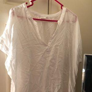 Gap white linen shirt XL